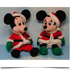 Bean Bag Santa Claus Mickey Mouse